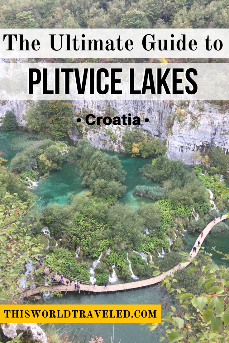 Planning to visit Plitvice Lakes National Park in Croatia? This guide covers everything you need to know including where to stay, where to purchase your ticket, which hiking trail to take and more!