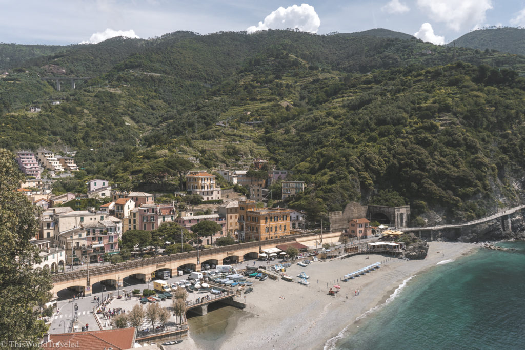 The views of Monterosso al Mare from above!