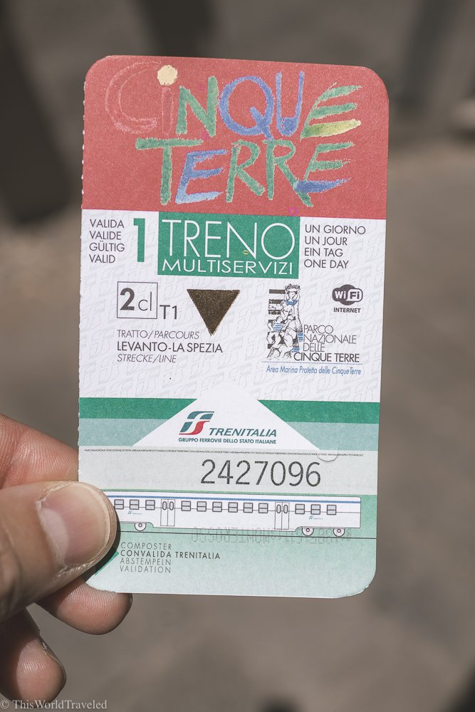 The Cinque Terre card will give you access to the hiking trails, trains and buses throughout the 5 villages