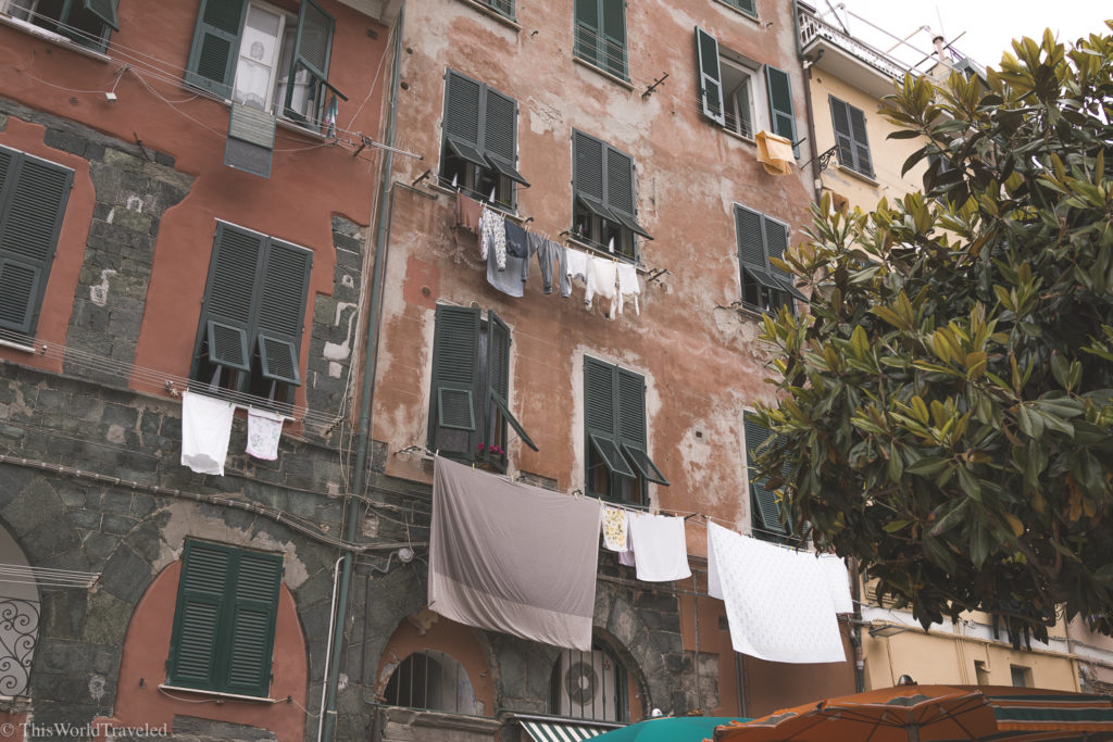 It's always laundry day in Cinque Terre