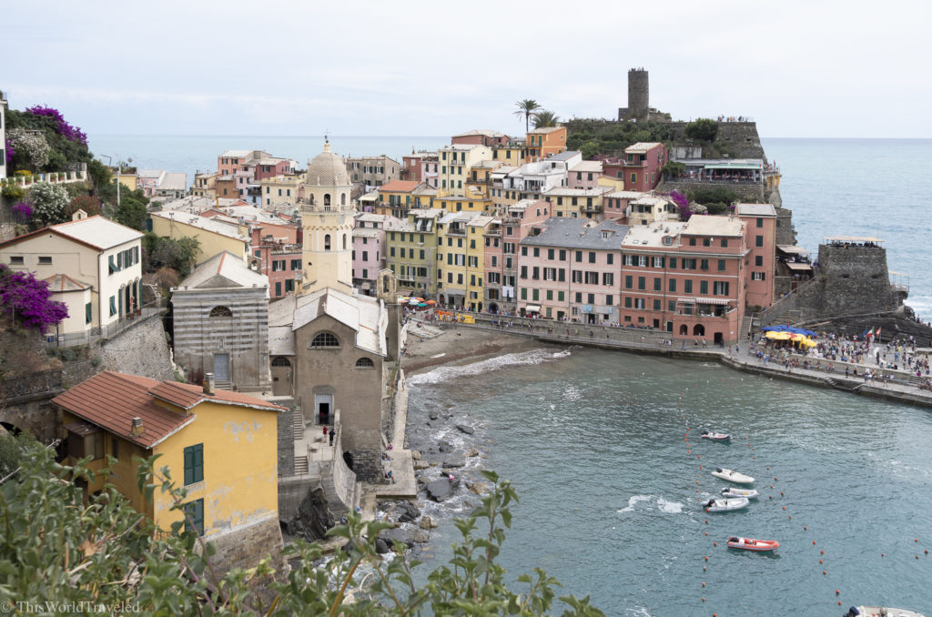 A visit to Cinque Terre isn't complete without exploring the lovely town of Vernazza