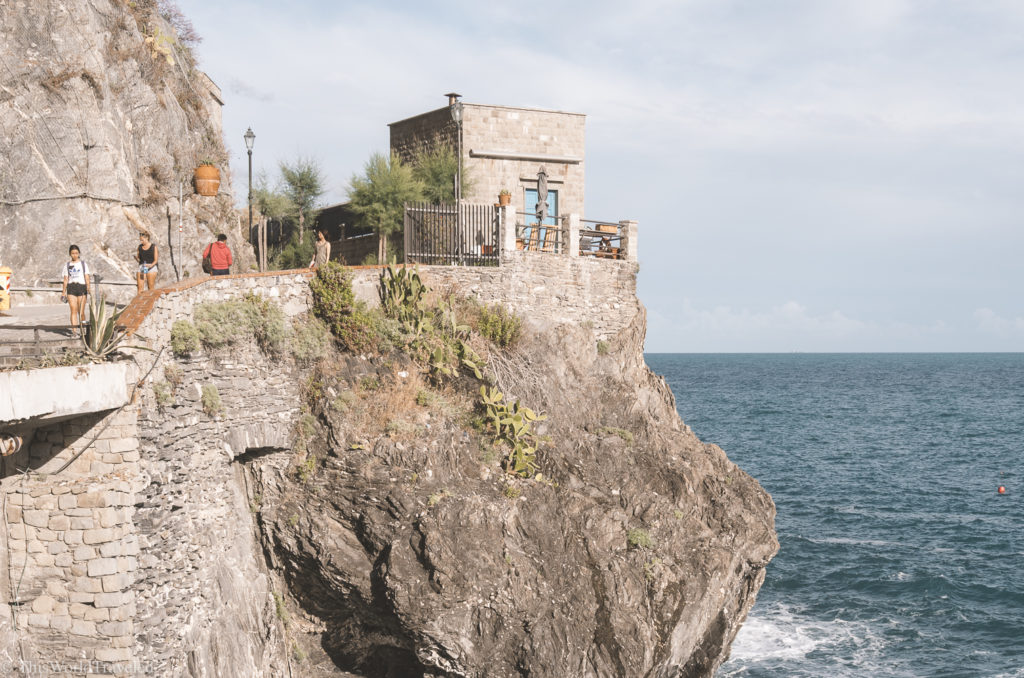 Be sure to walk around the bunker in Monterosso al Mare for some stunning views
