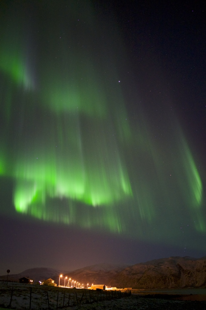 The intensified colors of green and purple dancing above us near Tromsø, Norway