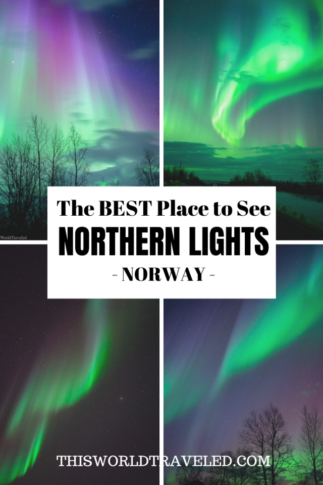 Find out the best place to see the northern lights in Norway