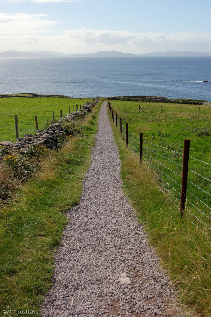 Path leading to Dunbeg Fort