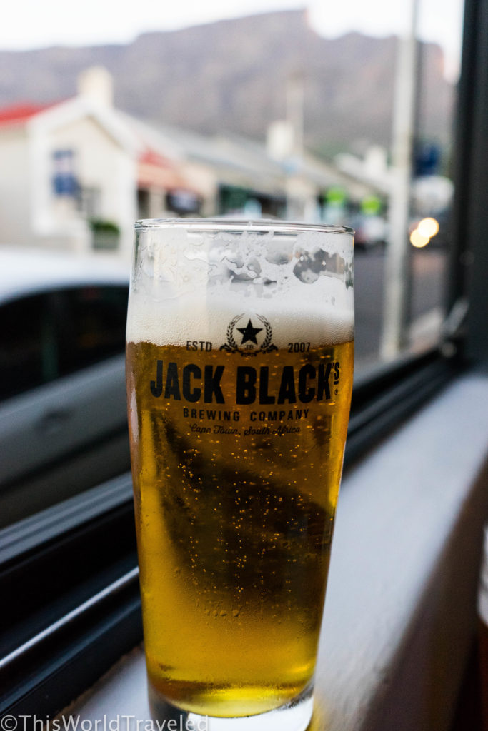 A pint with a view of Table Mountain