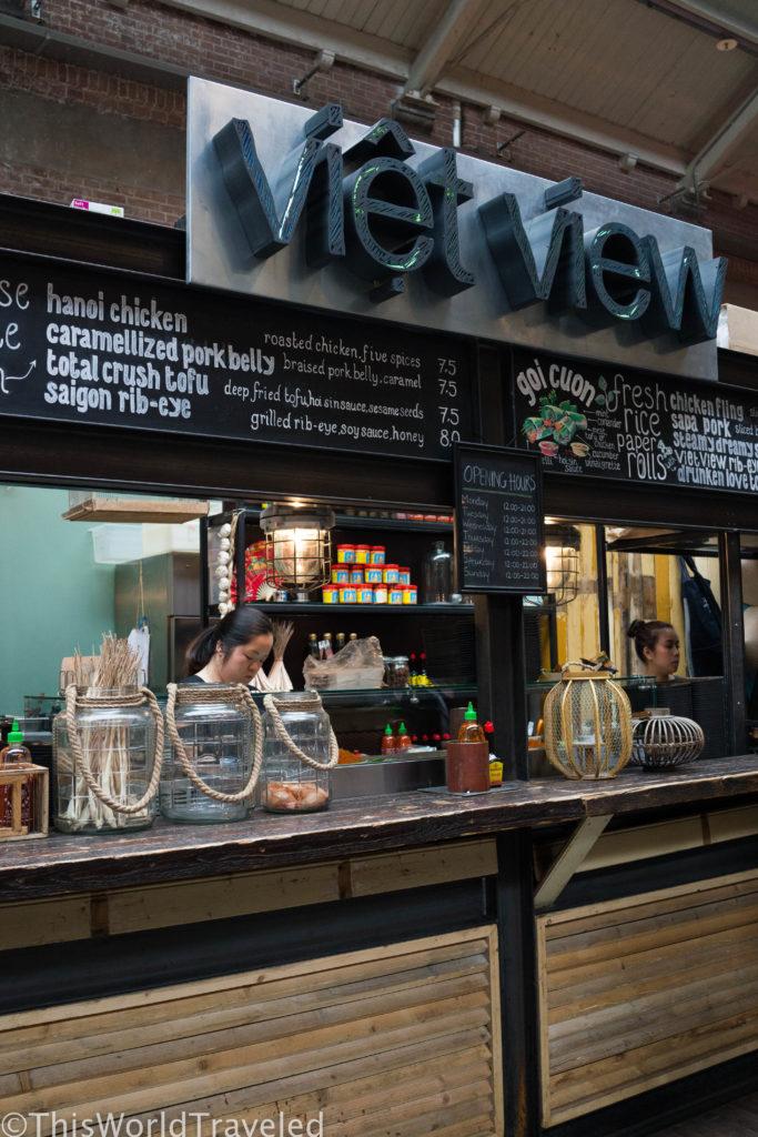 Viet View in Amsterdam's famous market called Foodhallen