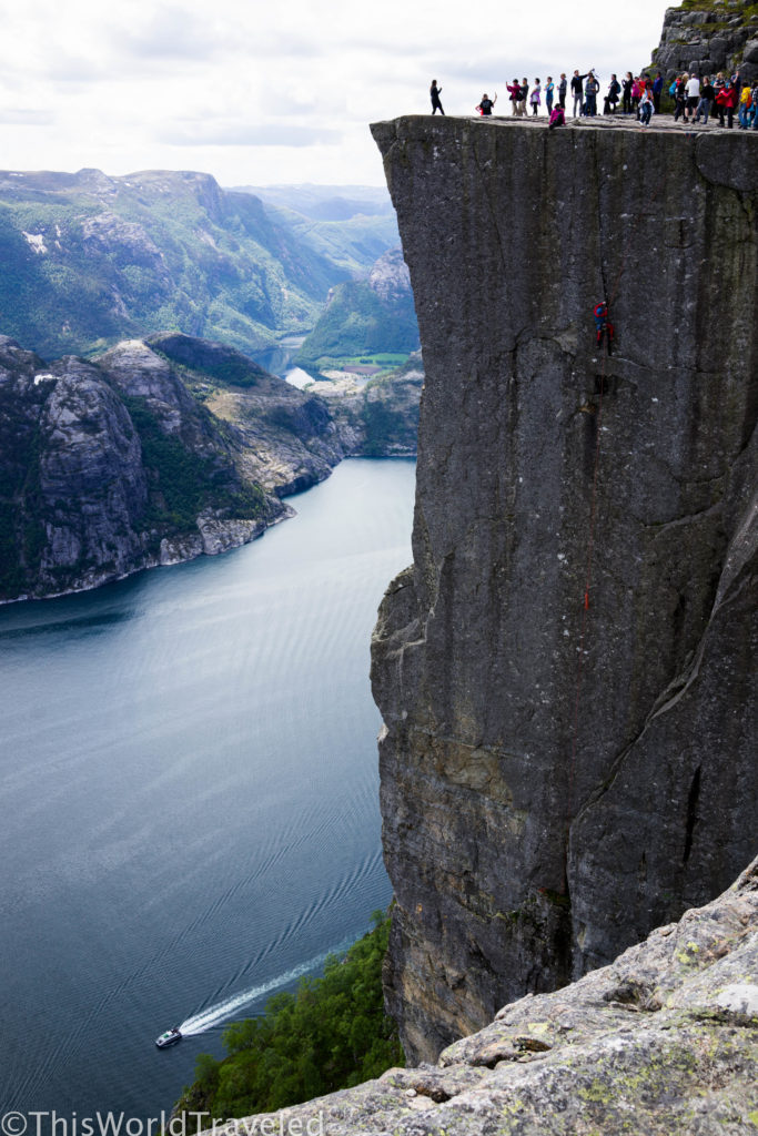 A DAY HIKE TO PREIKESTOLEN (PULPIT ROCK) NEAR STAVANGER, NORWAY