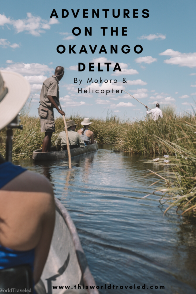 Looking for some adventure in Botswana? There are so many wonderful things to do on safari including a Mokoro Ride or a tour of the Okavango Delta by helicopter