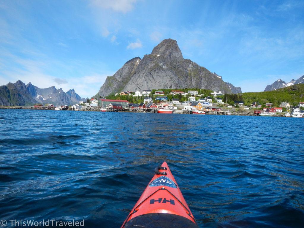 Kayaking in Reine with Reine Adventures