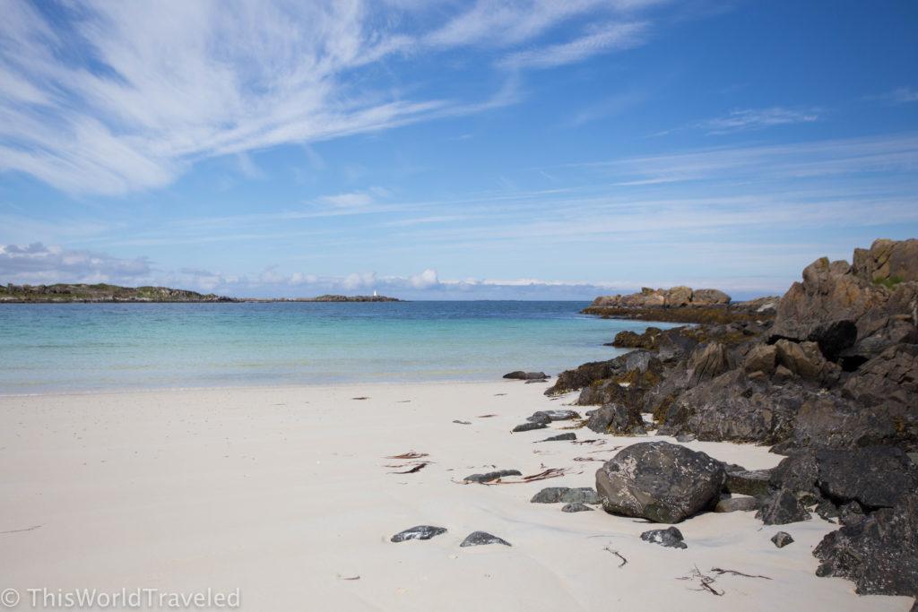 The beautiful beach in Høv in the Lofoten Islands