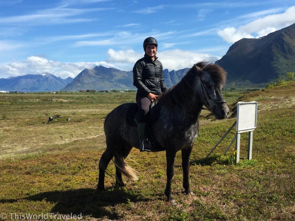 Horseback riding in the Lofoten Islands
