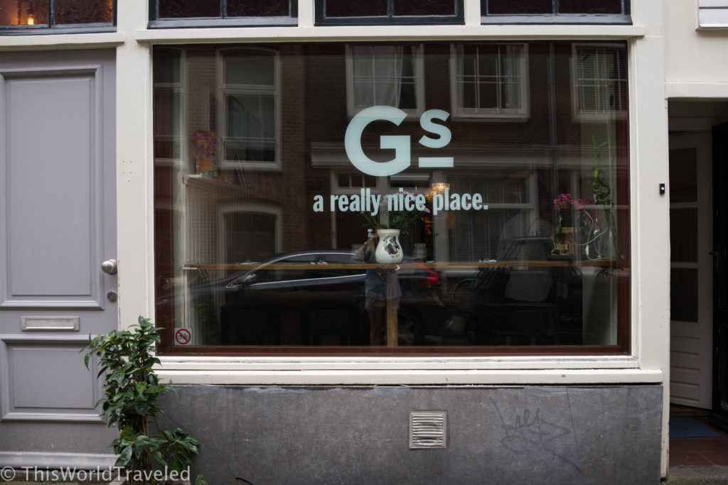 Gs Amsterdam, a brunch restaurant in the heart of Amsterdam