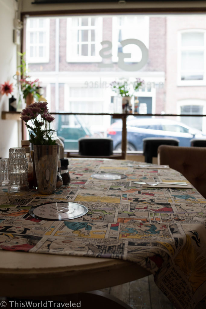 The eclectic interior of Gs Amsterdam in the Jordaan district
