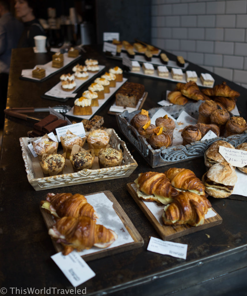 The delicious array of baked goods found at Foxcroft & Ginger in London