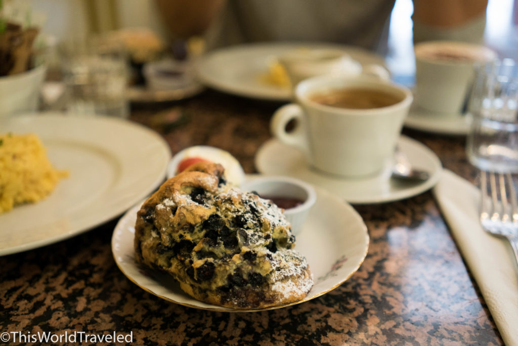 The blueberry scones at Queen of Tart's in Dublin are one of our favorites!