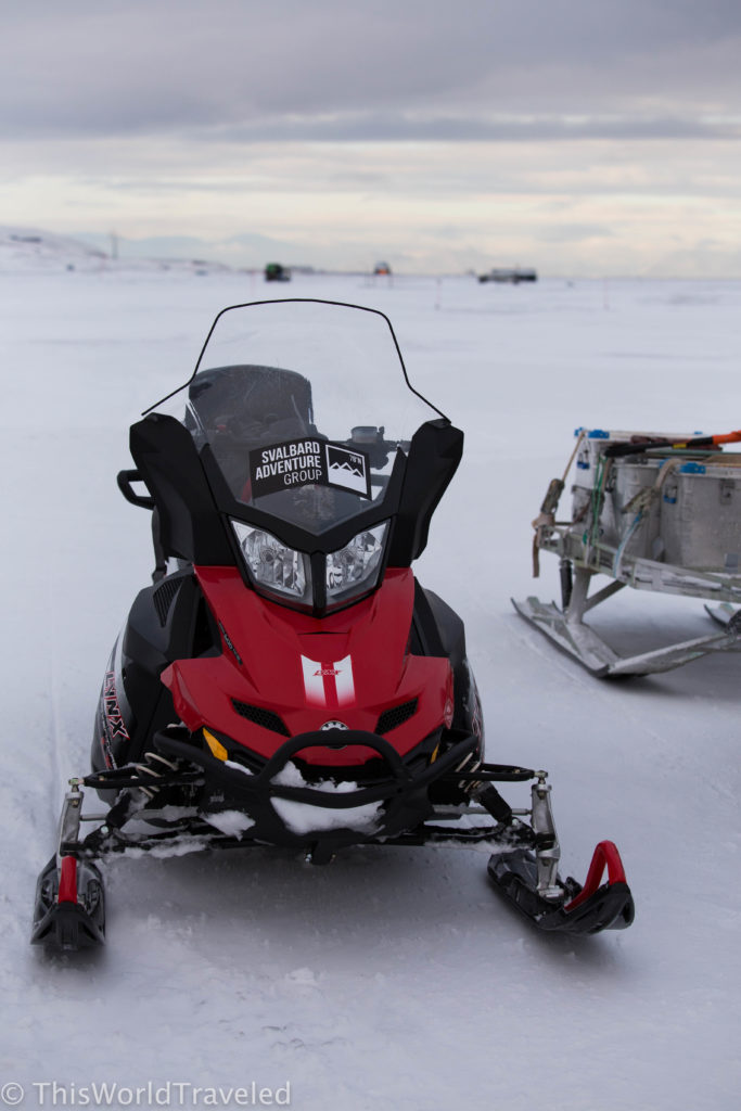 Ready to embark on our 2-day snowmobile safari in Svalbard