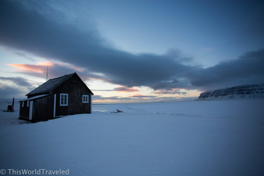 One of the trappers cabin located in Svalbard