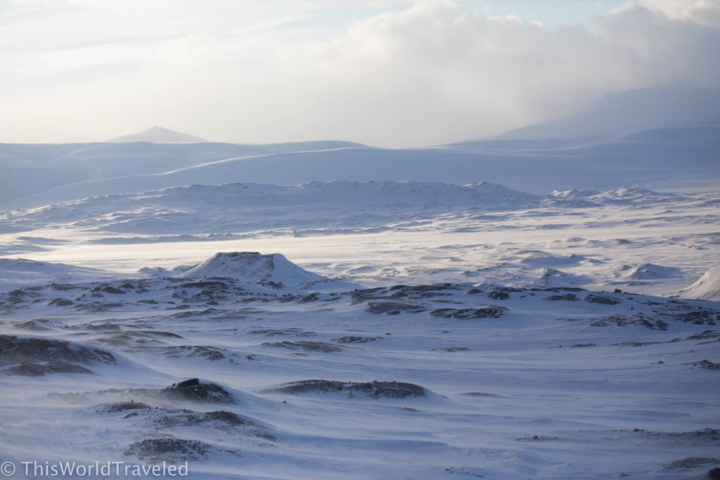 The vast landscape of snow in Svalbard