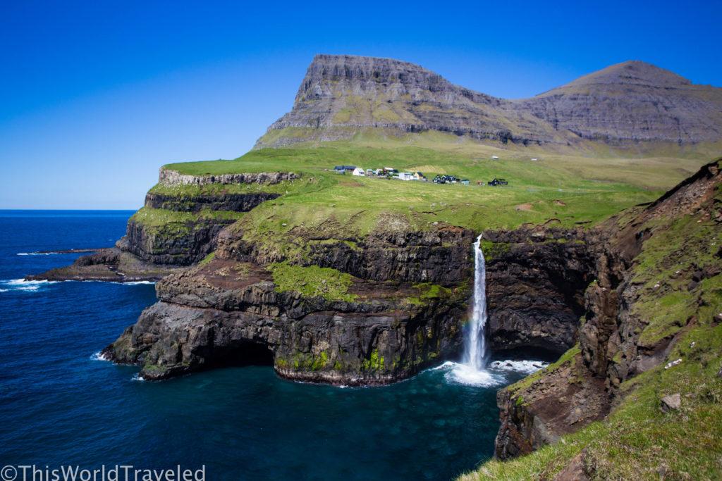 Gásadalur Waterfall in Faroe Island