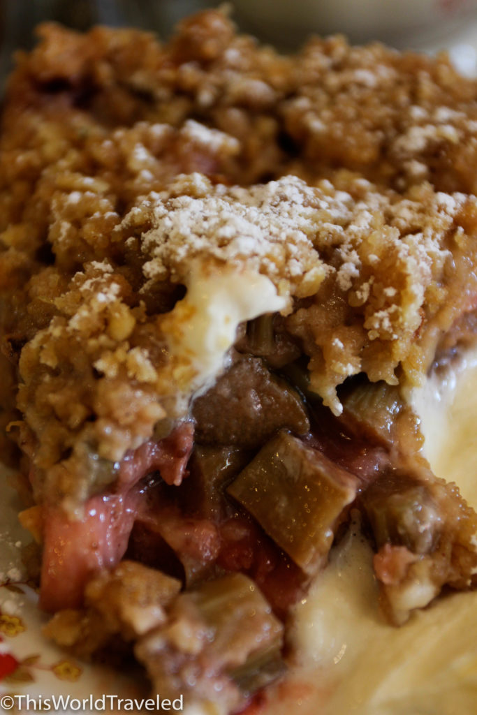 My absolute favorite rhubarb crumble from Queen of Tart's in Dublin