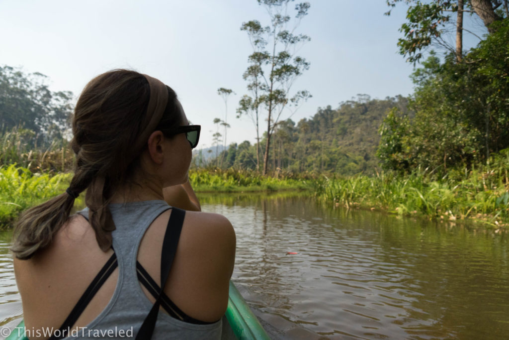 Taking the canoe around lemur island to visit all the adorable resident lemurs