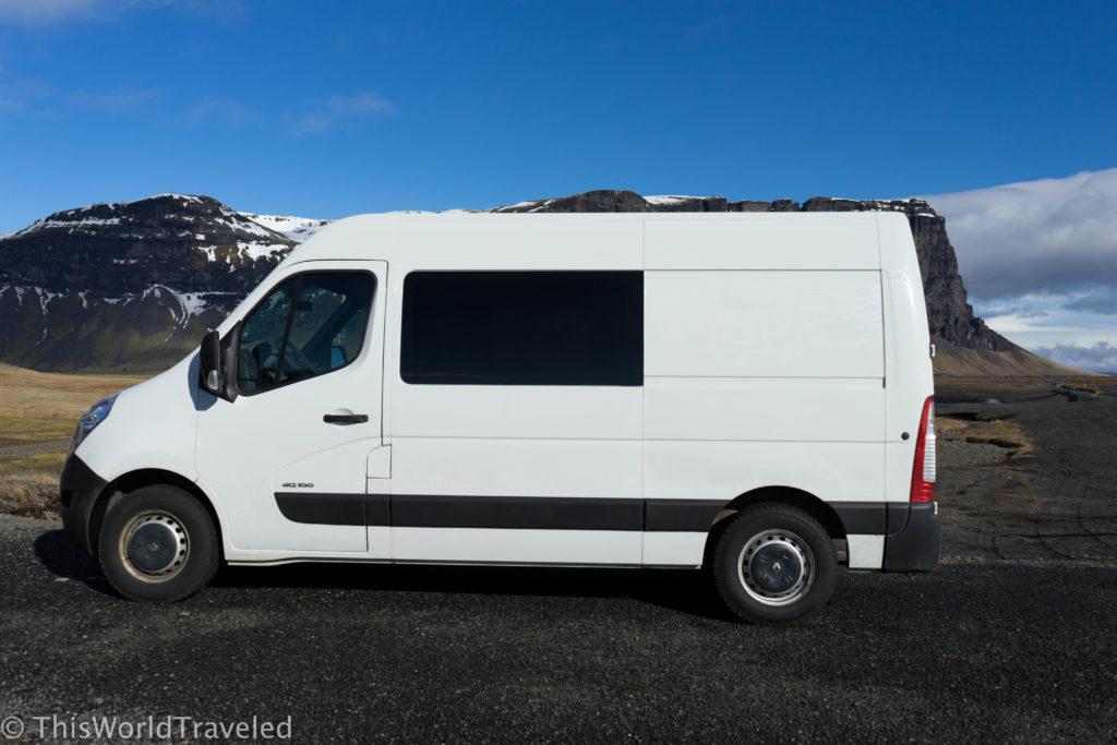 The 5-person KúKú Camper van in Iceland's gorgeous landscape