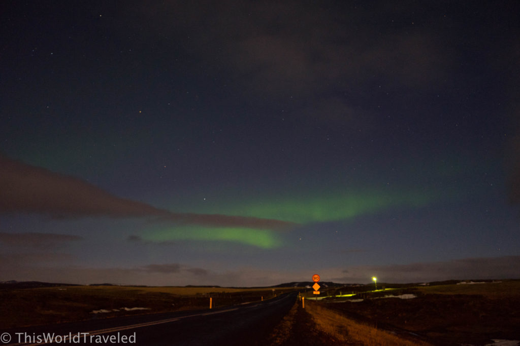 Watching the northern lights along Iceland's Ring Road