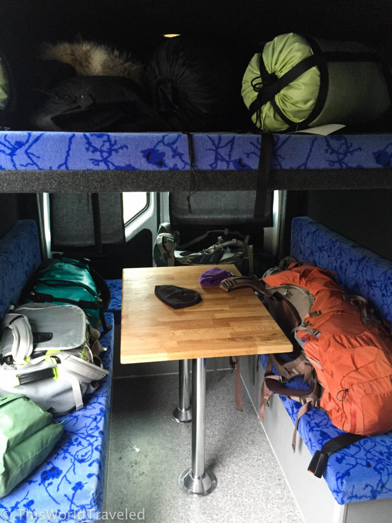 Tons of space in our 5-person KúKú Camper van