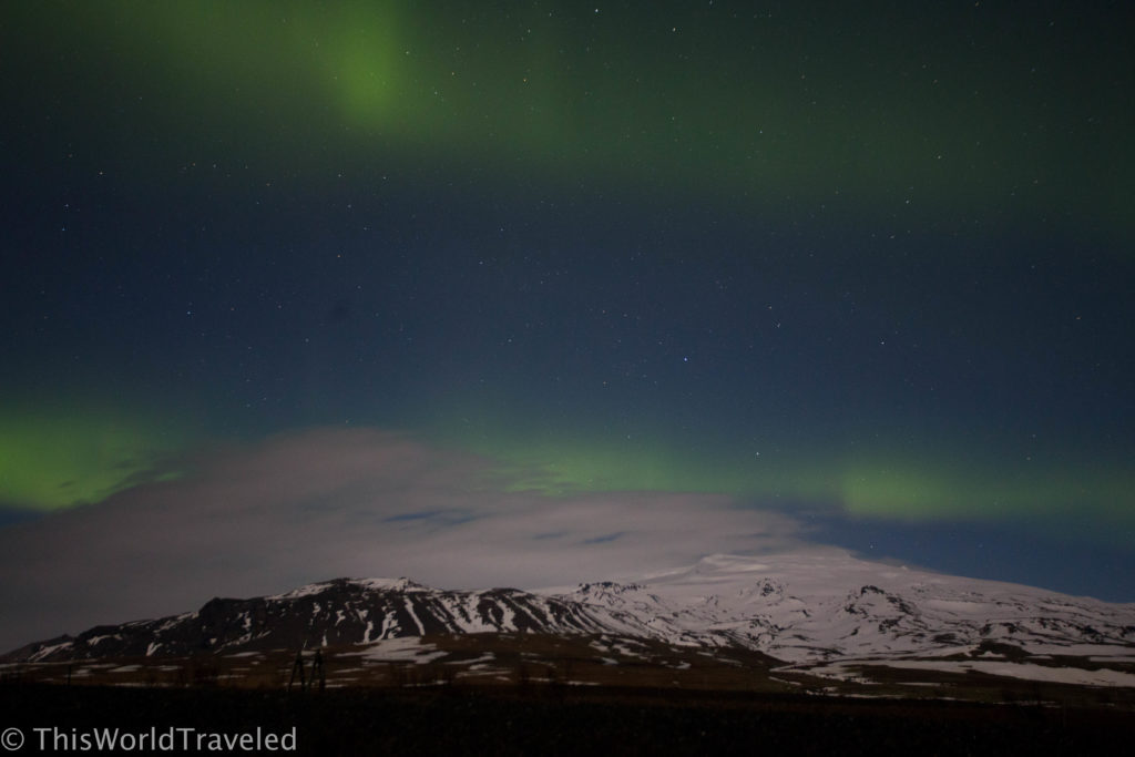 Photographing the aurora borealis dancing above Iceland