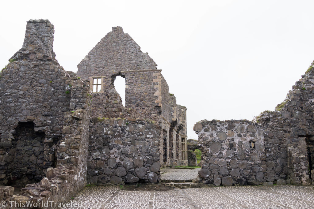 The Dunluce castle ruins in Northern Ireland