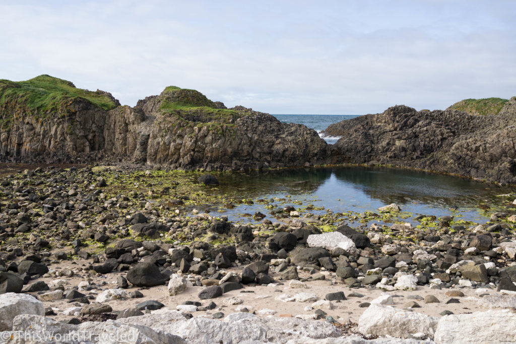 The rocky shores of Ballintoy Harbour in Northern Ireland