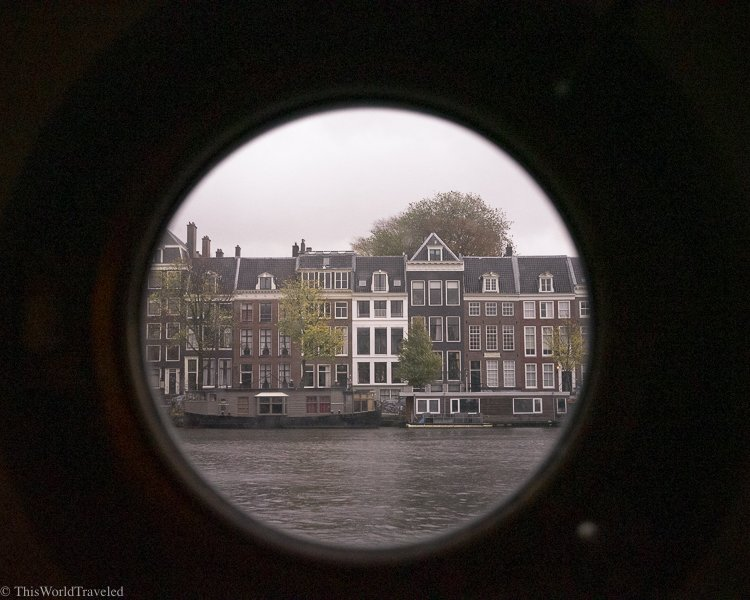 There are lots of windows and portholes on the boat with gorgeous views