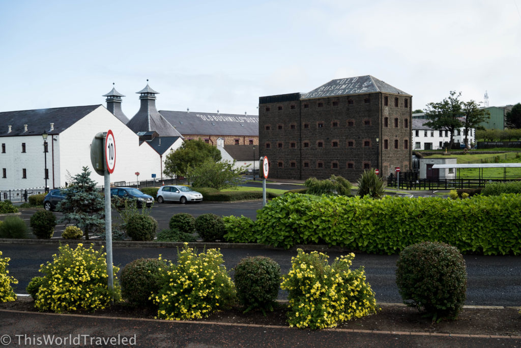 View of Old Bushmill's Distillery located in the small village of Bushmill in Northern Ireland