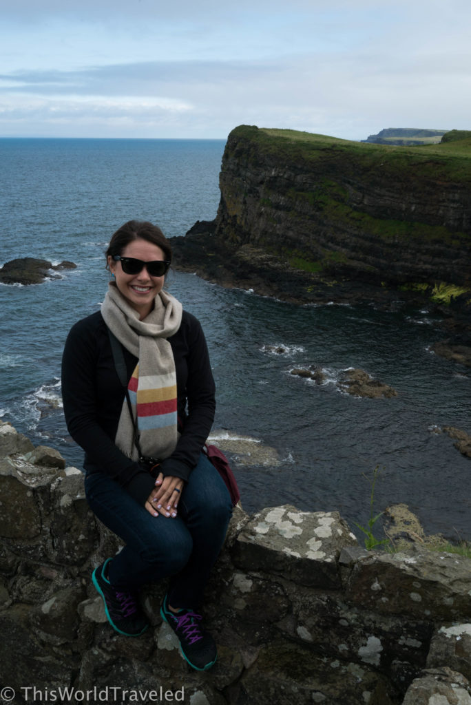 The views from Dunluce castle in Northern Ireland