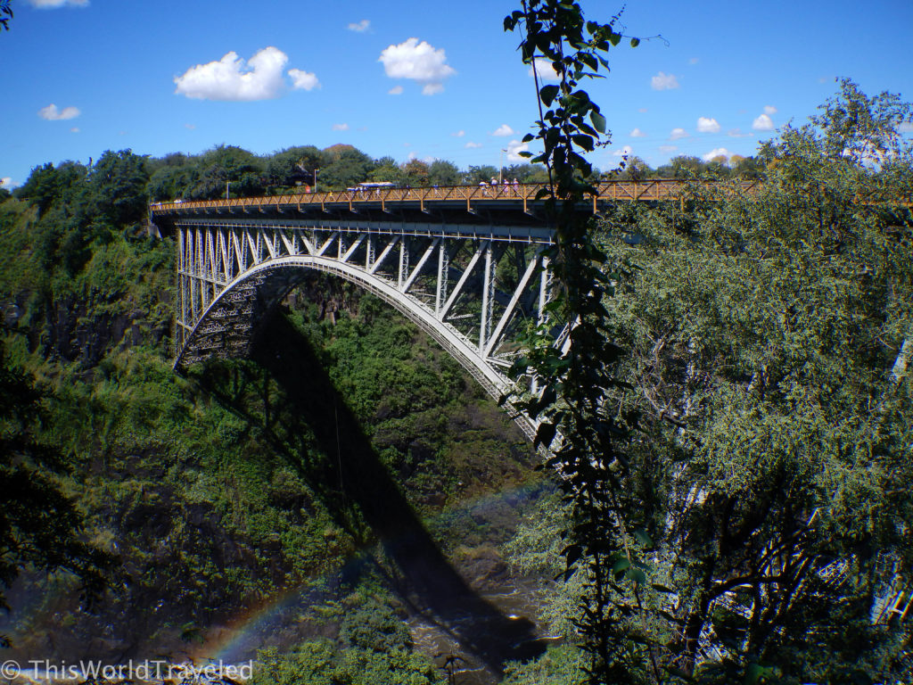 Built in 1905, the Victoria Falls Bridge is the link between Zimbabwe & Zambia