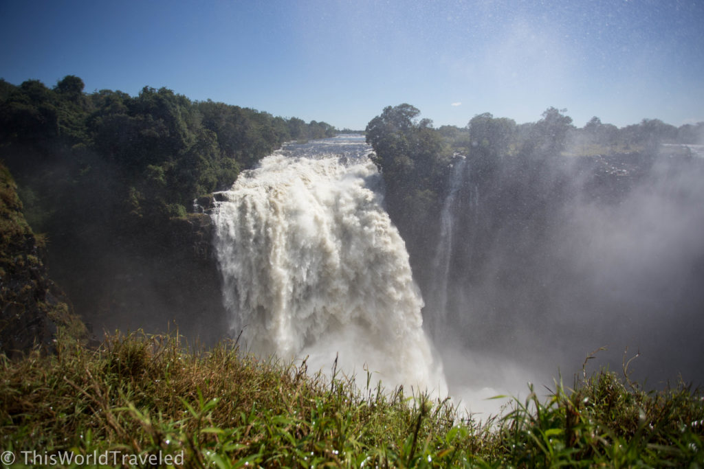 The gorgeous Victoria Falls waterfall in Zimbabwe