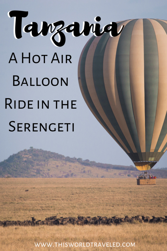 Take flight on a hot air balloon right in the Serengeti to get a different perspective on your safari in Tanzania