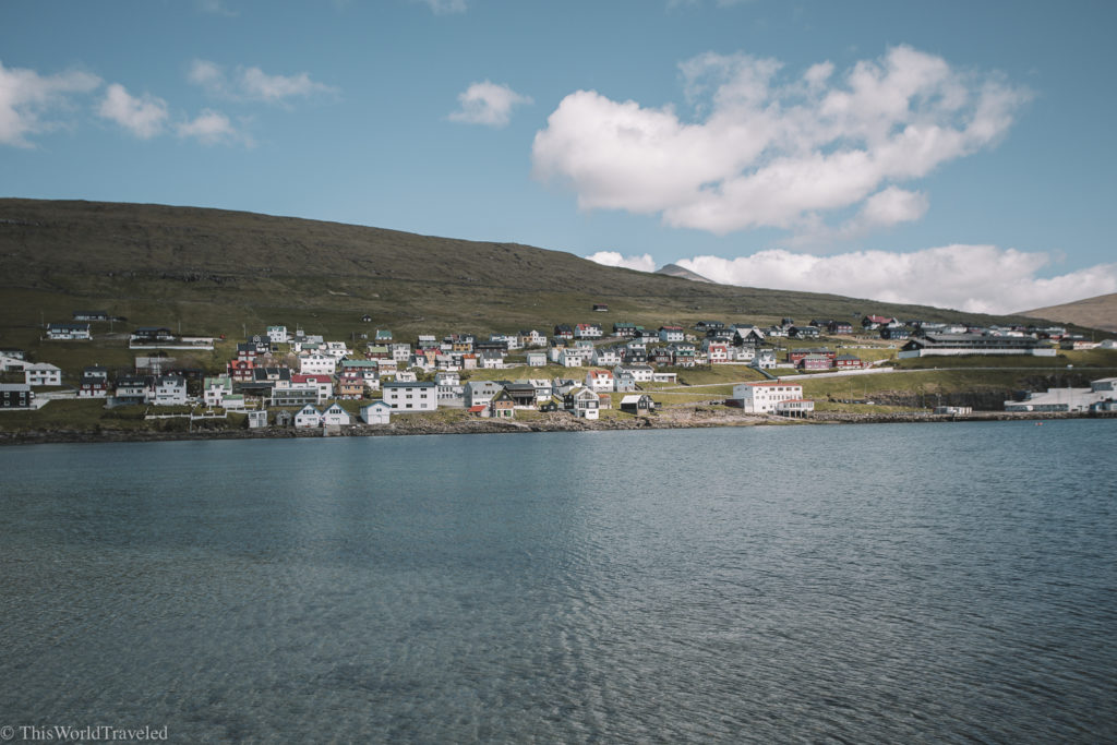 We had a beautiful view just outside our apartment in the Faroe Islands