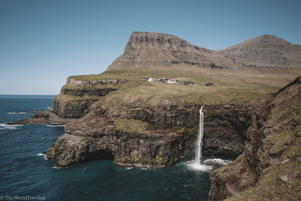 The Gásadalur waterfall is one of most photographed places in the Faroe Islands