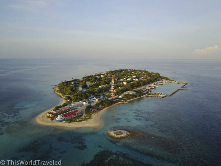 The island of Mahibadhoo is the capital island in the South Ari Atoll in the Maldives