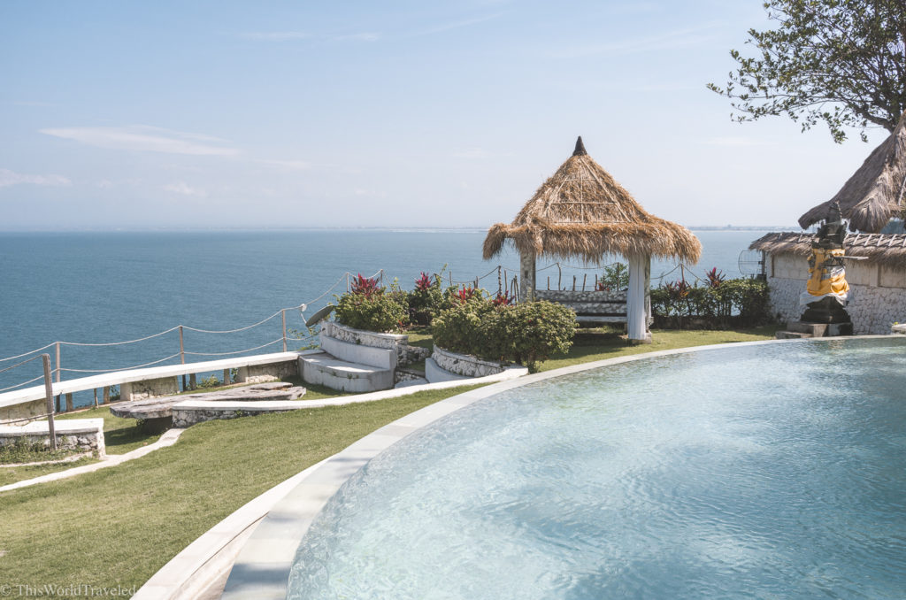 The EcoLodge has a couple of pools on their property and stunning ocean views.