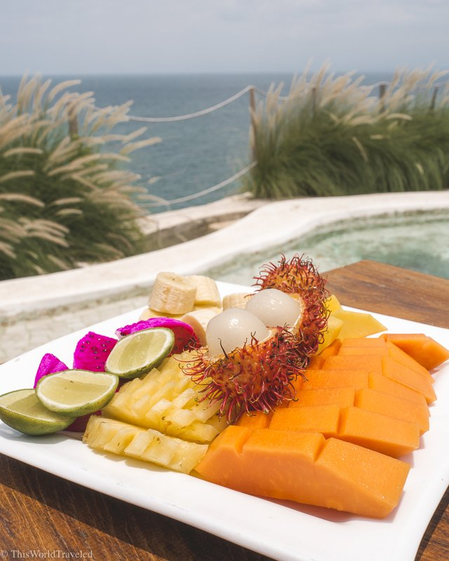 Bali is filled with so many fresh and delicious fruits. Favorites being the dragonfruit and papaya!