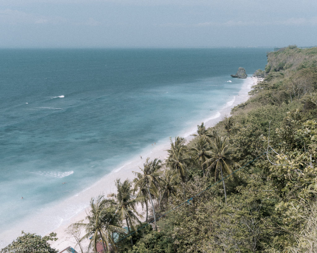The beautiful beaches of Padang Padang. This is a really nice beach in Bali to spend some time relaxing at.