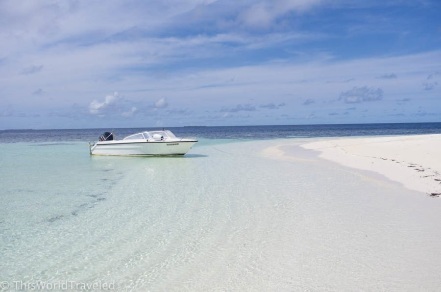 The turquoise waters of the Maldives are stunningly beautiful!