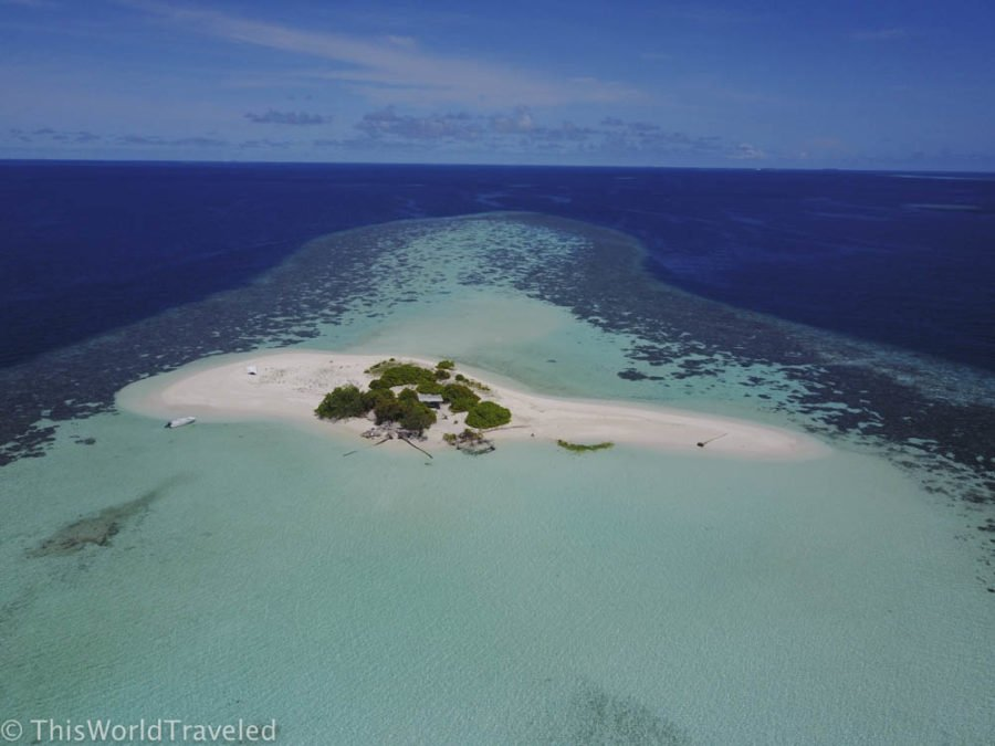 This is just one of the deserted island in the Maldives that you can visit on a budget for the day
