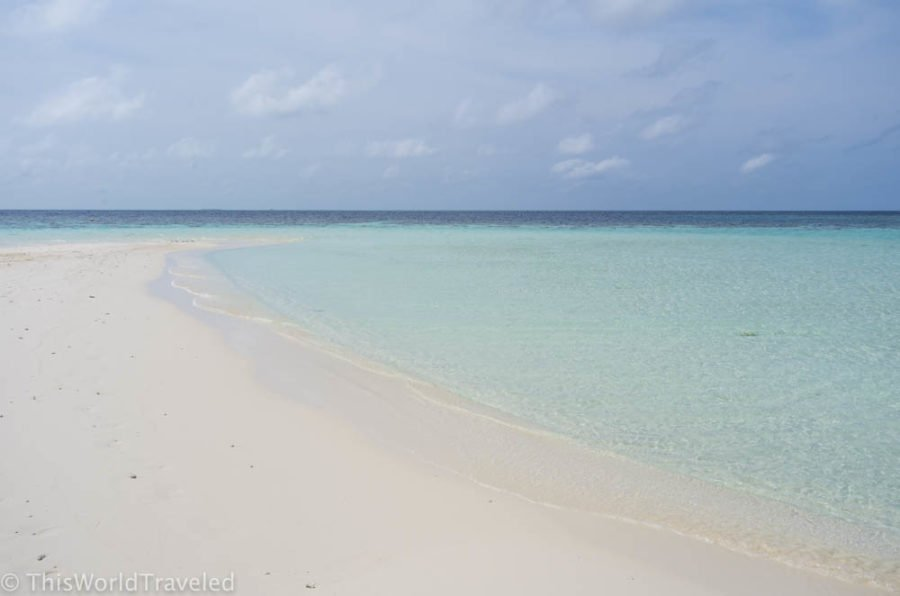 Picnic island is one fo the excursions that you can do while visiting the Maldives on a Budget
