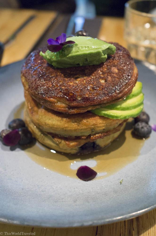 Avocado pancakes at The Avocado Show in Amsterdam