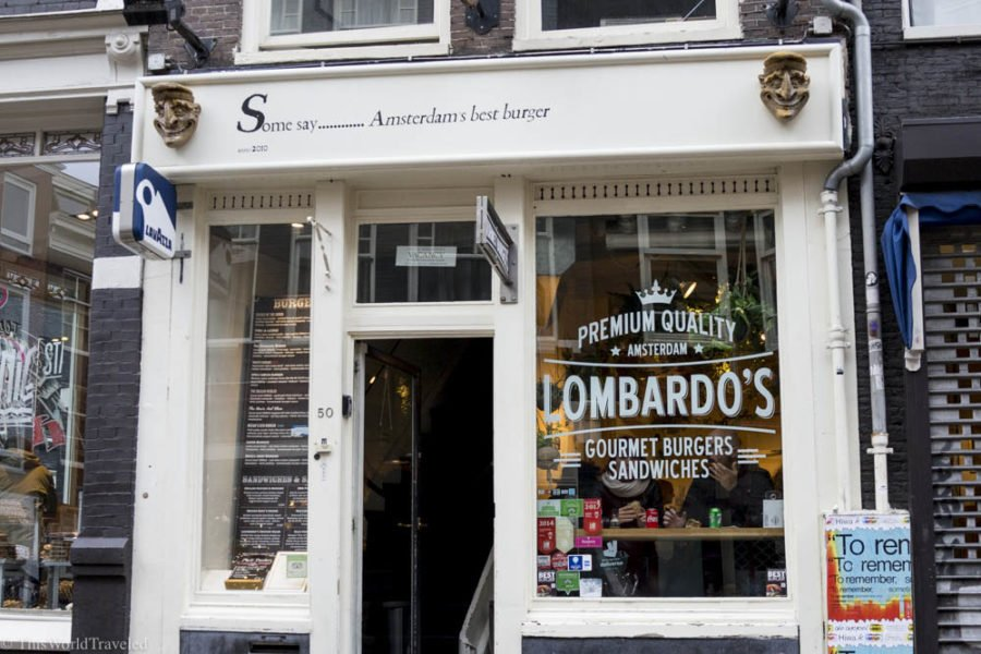 Lombardo's is well known for their gourmet burgers and sandwiches in Amsterdam