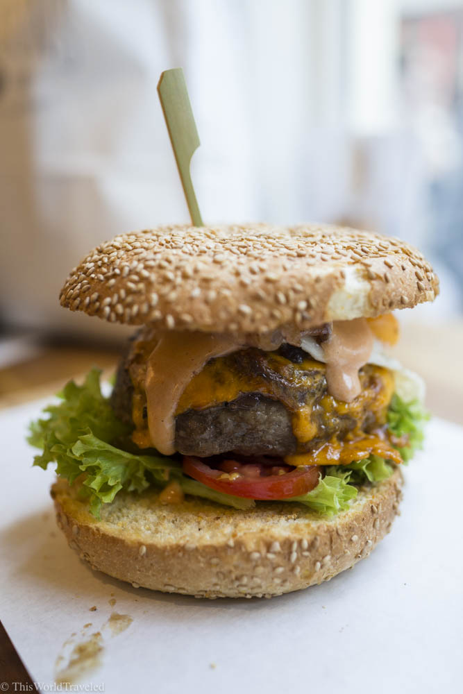 Lombardo's in Amsterdam has a small but delicious menu or burgers and sandwiches